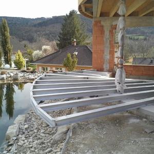 24. Unterkonstruktion für Terrasse